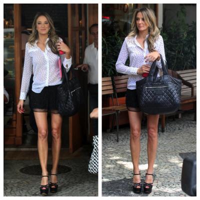 Ticiane Pinheiro de Pop Up Store, Chanel e Arezzo
