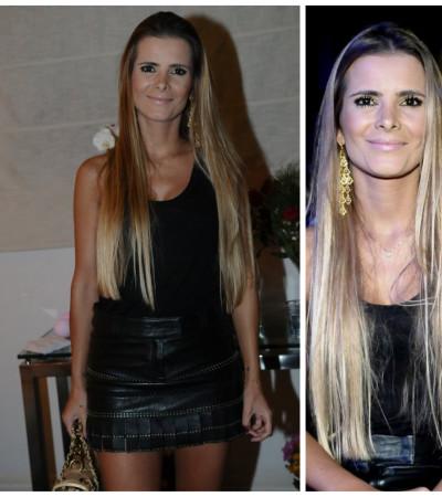 Flavia Fonseca Camargo com maxibrincos criados por ela