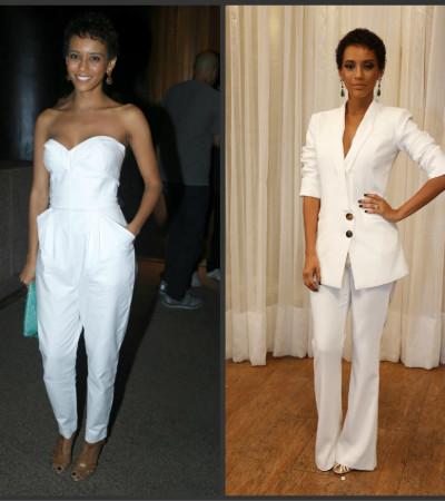 Taís Araújo ama roupa branca