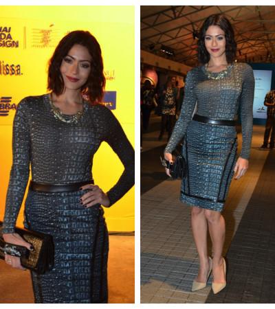Carol Castro de vestido A.Brand