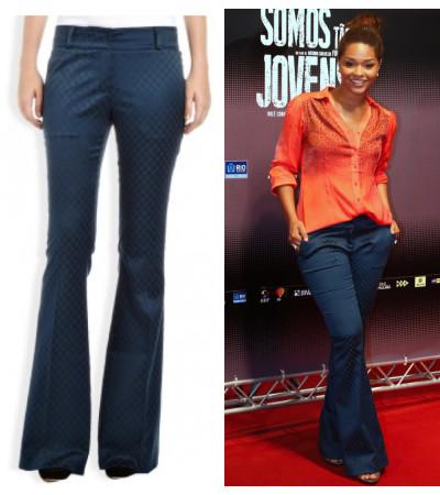 Juliana Alves usa calça Le Lis Blanc