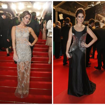 Qual famosa ficou melhor de vestido longo em Cannes?