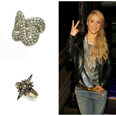 Shakira usa anéis H.Stern