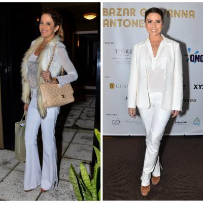 Famosas amam calça branca; Vote no melhor look