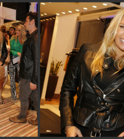 Adriane Galisteu veste Iódice e Jimmy Choo em Vitória