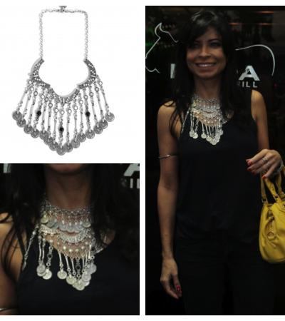 Ana Lima usa colar Ateen
