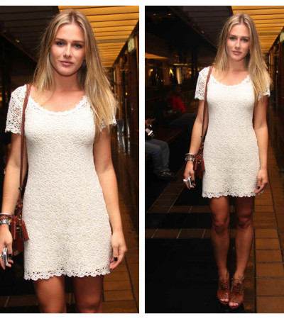 Fiorella Mattheis veste Le Lis Blanc