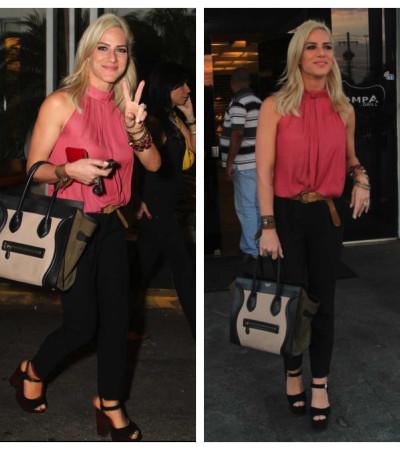 Giovanna Ewbank usa macacão Zara