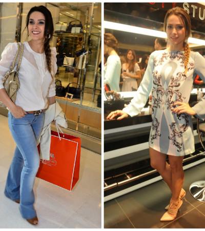 Eclética, Fernanda Machado usa Pucci e Hering no mesmo dia