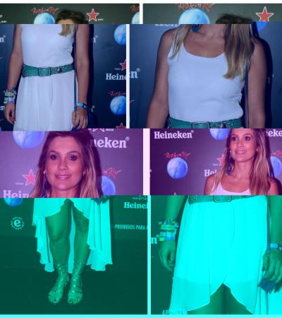 Flávia Alessandra aposta em vestido mullet da Urban Outfitters