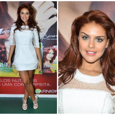 Paloma Bernardi escolhe vestido branco de Vitor Zerbinato