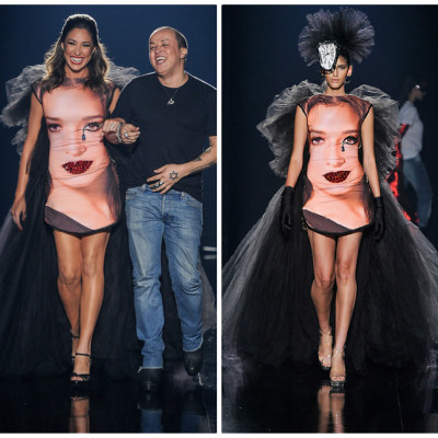 Giselle Itié usa vestido surrealista de Walério Araújo