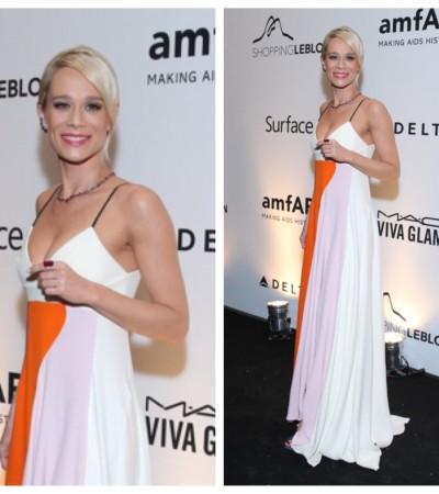Mariana Ximenes usa longo Dior na amfAR