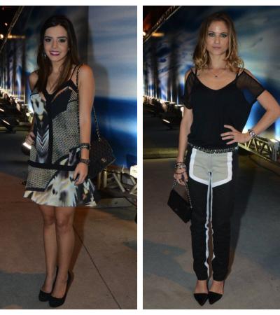 Giovanna Lancellotti e Luiza Valdetaro de Espaço Fashion