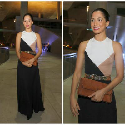Camila Pitanga elege vestido Andréa Marques