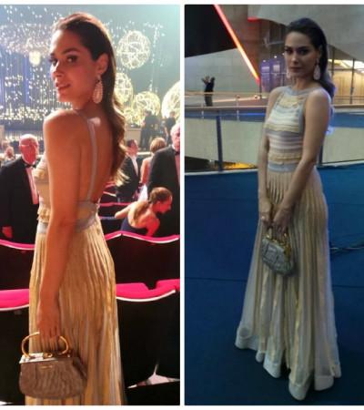 Fernanda Machado usa vestido Coven