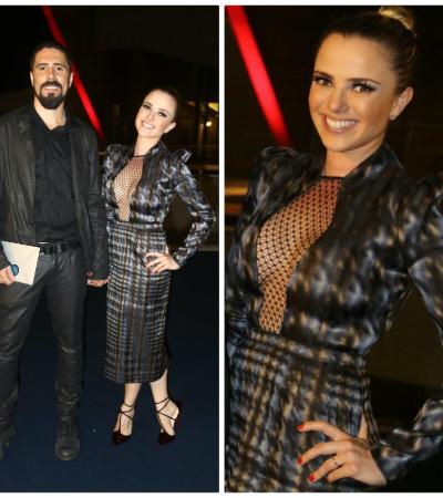 Nathalia Rodrigues usa Gucci no show de Roberto Carlos