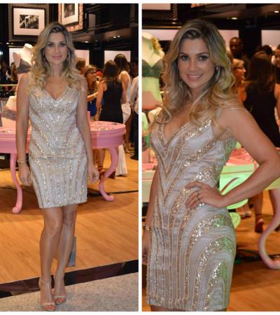 Flávia Alessandra usa vestido Cote D'Azur