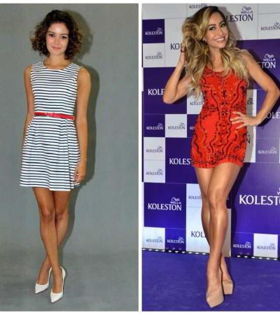 Qual famosa ficou melhor de vestido curto?