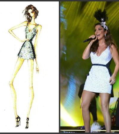 Ivete Sangalo usa vestido Printing com 2,5 mil cristais