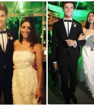 Carol Castro se casa com vestido Alexandre Herchcovitch
