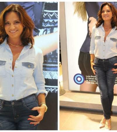 Inspire-se no look de Luiza Brunet