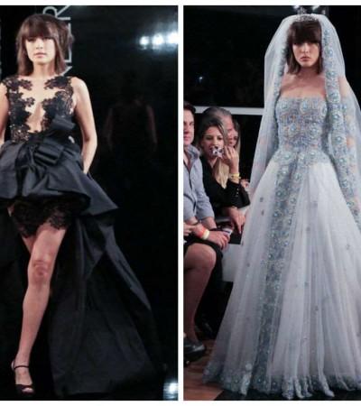 Maria Casadevall desfila de noiva para Lucas Anderi