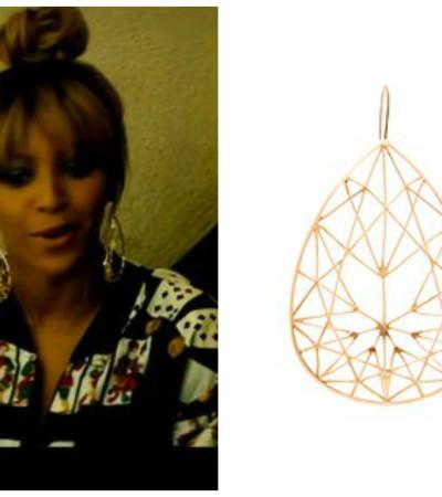 Beyoncé usa maxibrinco Jack Vartanian