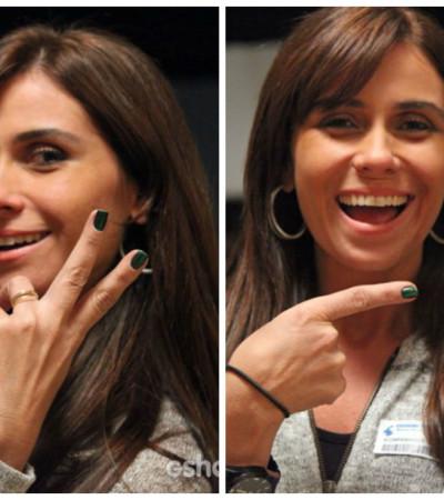 Depois de sucesso com esmalte azul, Giovanna Antonelli muda para verde da Hits Speciallità