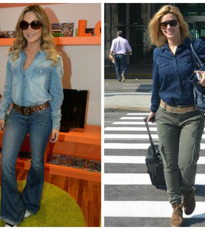 Elas amam camisa jeans