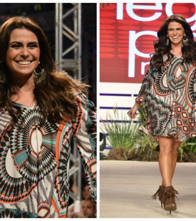 Giovanna Antonelli desfila no evento Coleções do Mega Polo Moda