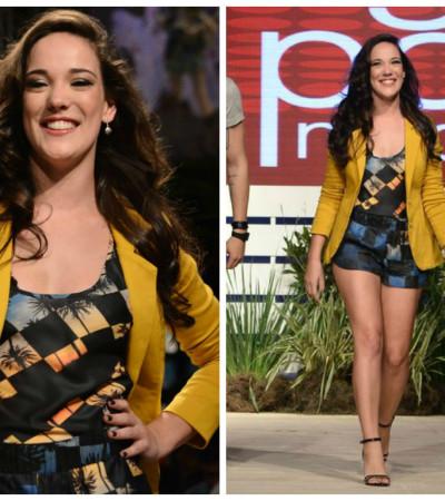 Adriana Birolli desfila no evento Coleções do Mega Polo Moda