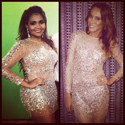 Gaby Amarantos e Carol Marra amam vestido Mares