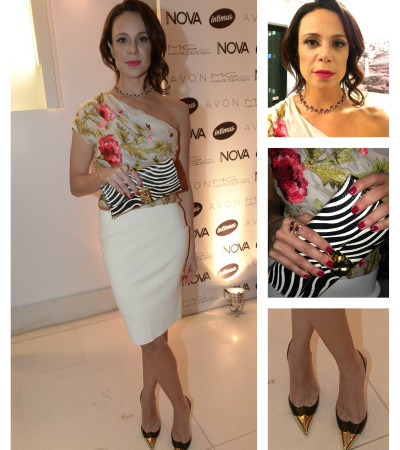 Vanessa Gerbelli usa Valentino, Macadamia e Louboutin em festa da Nova