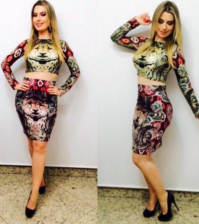 Fernanda Keulla usa Tigresse estampado