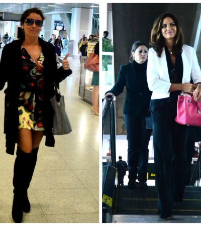 Giovanna Antonelli e Luiza Brunet de viagem: veja estilos