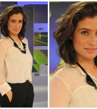 Renata Vasconcellos do Fantástico para o JN: inspire-se no look
