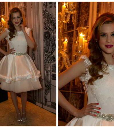 Sophia Abrahão com vestido de noiva assinado por Lucas Anderi