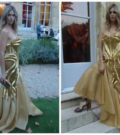 Fernanda Lima usa vestido-joia de Samuel Cirnansck em Paris