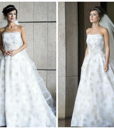 Andreia Horta usa vestido de noiva Lethicia Bronstein em 'Império'
