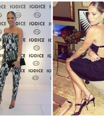 Adriane Galisteu de Iódice para a C&A e Gucci