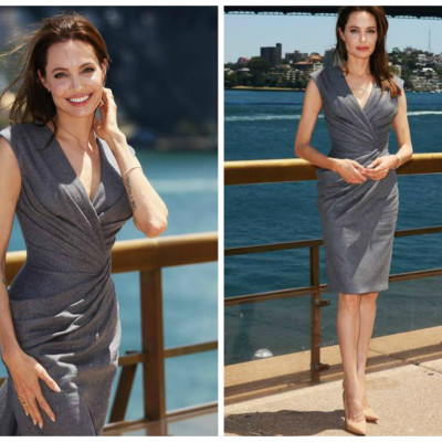 "Angelina Jolie veste Atelier Versace para lançar ""Invencível"""