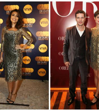 Juliana Paes e Sophie Charlotte amam vestido Dolce & Gabbana