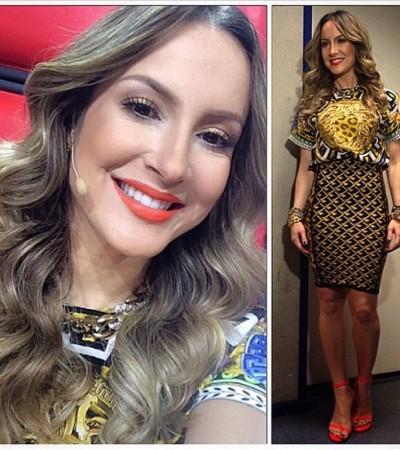 Claudia Leitte de Versace e Lolitta