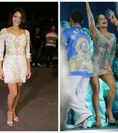 Claudia Leitte e Carol Castro usam vestido igual