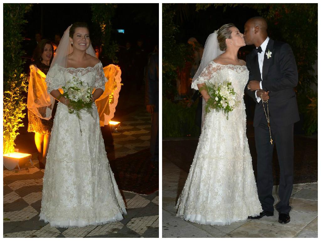 14ff092bd8 Fernanda Souza e o cantor Thiaguinho se casaram na noite da última  terça-feira (24)