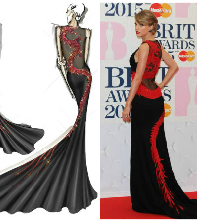 Taylor Swift veste 'dragão' de Roberto Cavalli