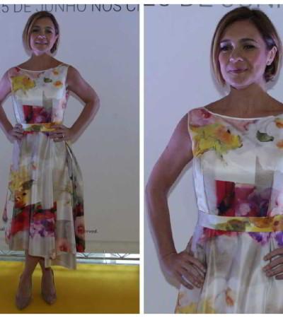 Inspire-se: Adriana Esteves com cocktail dress romântico