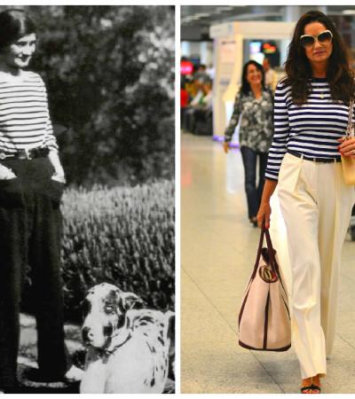 À la Chanel: Inspire-se no navy chique de Luiza Brunet