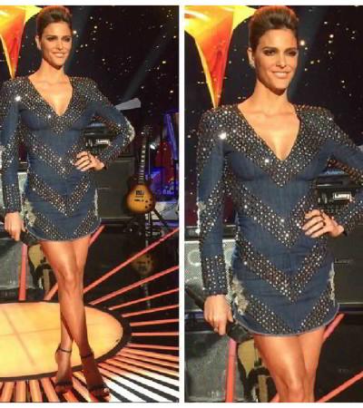 Dia do Rock: inspire-se no vestido jeans com tachas de Fernanda Lima